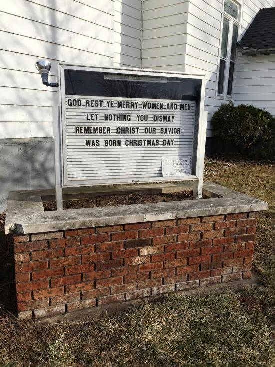 church sign christmas