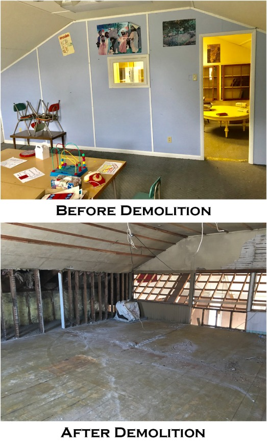 Second Floor Before and After
