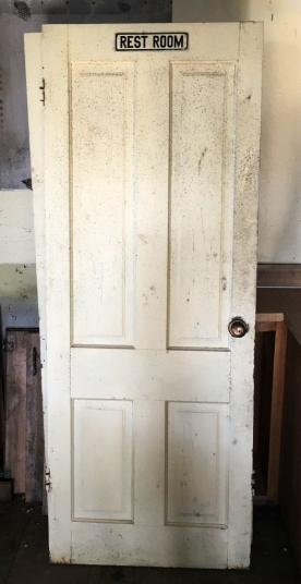 Rest Room Signed door