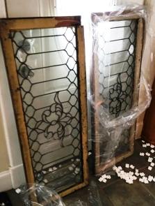 broken leaded glass
