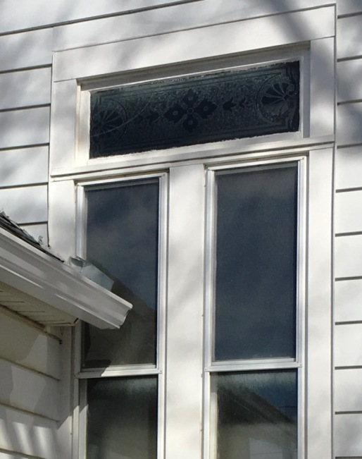 cracked etched transom
