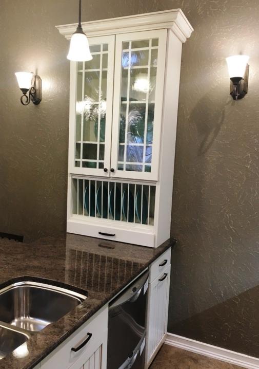glass fronted doors