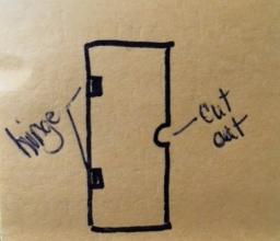 shower door sketch