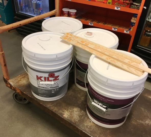 20 gallons of paint