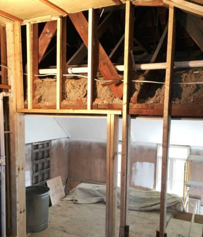 Before blow-in insulation.