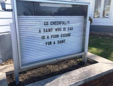 church message sad saint