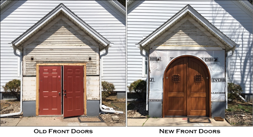 front door before and after install