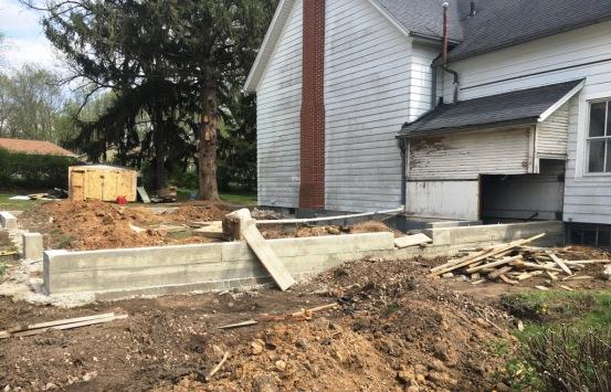garage concrete walls