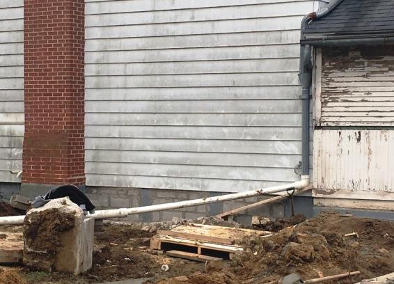 garage windows blocked in
