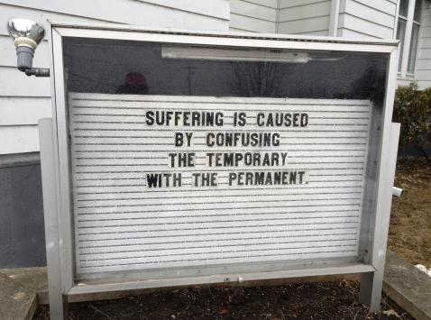 suffering message