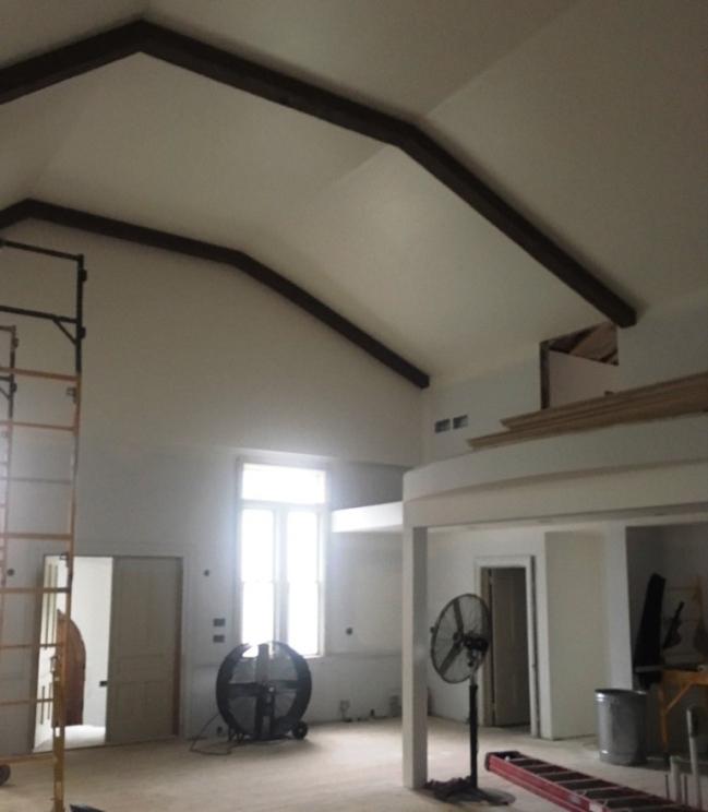 beams on ceiling
