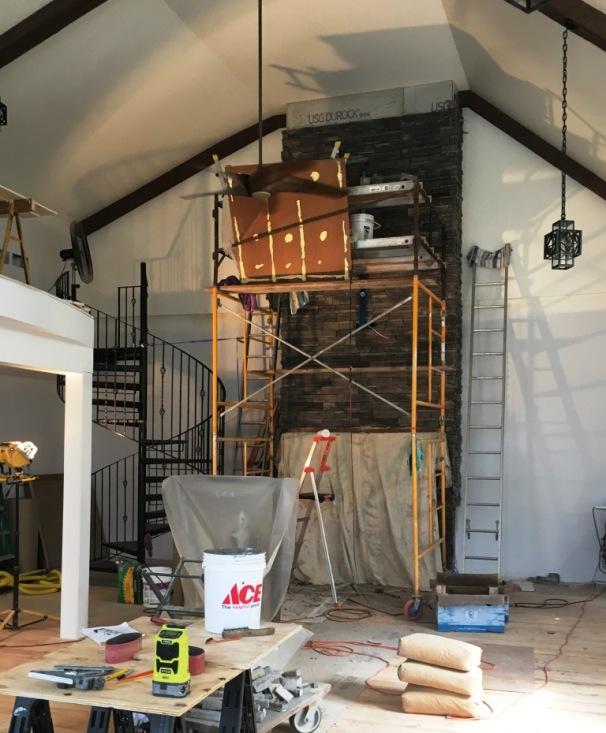 chimney progress