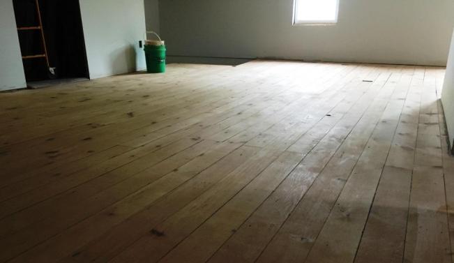 second floor sanded floor