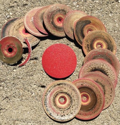 used sanding discs