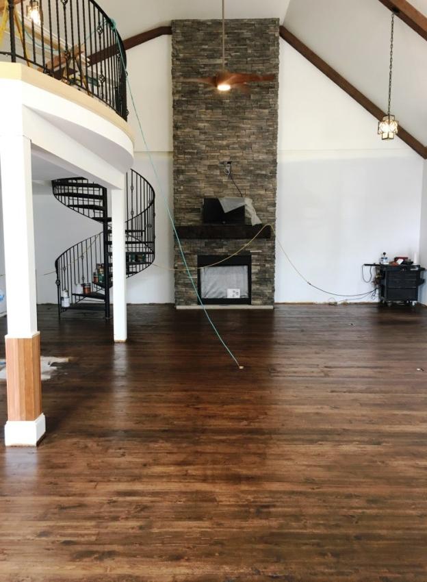 acorn brown floor