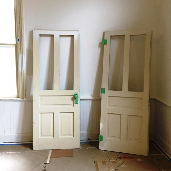 doors ready for paint