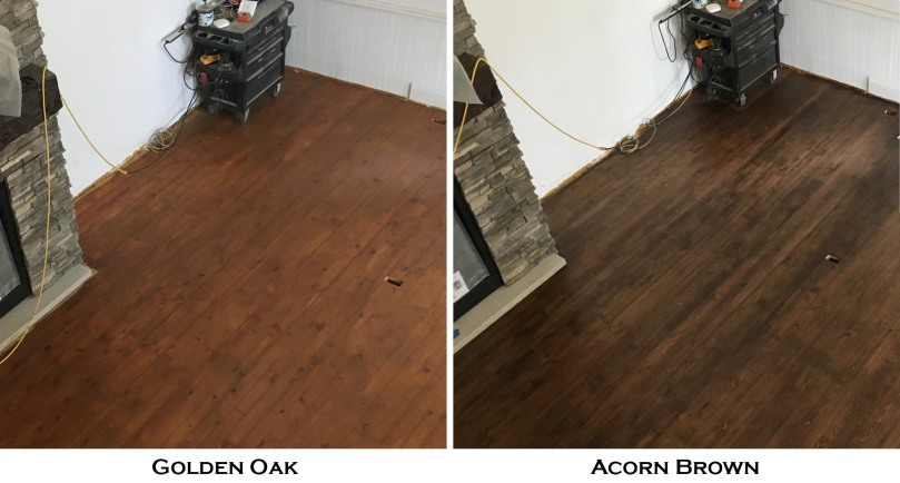 golden oak vs acorn brown