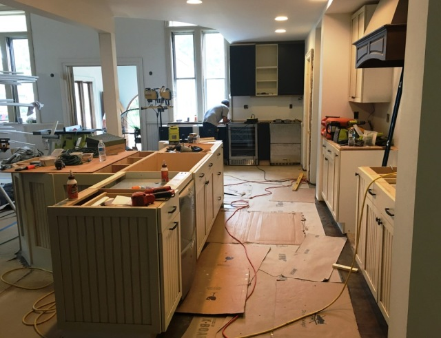 kitchen before countertops