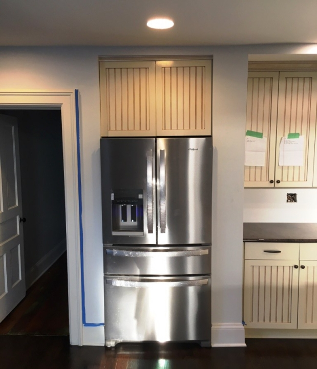 refrigerator in place