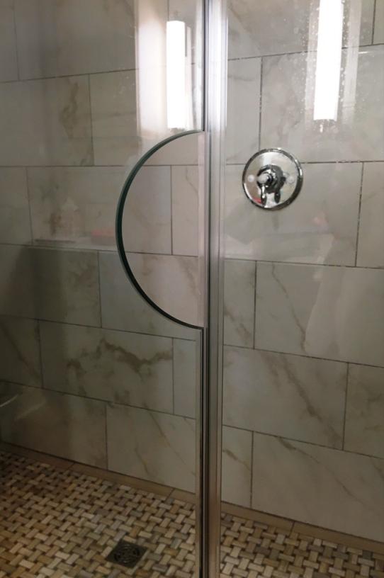 open handle in shower