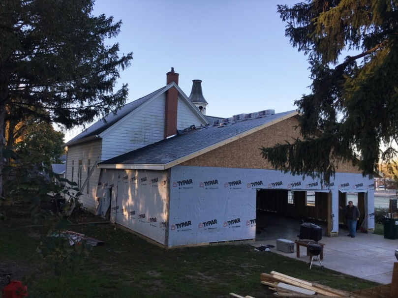 shingles on the roof