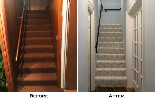 back steps before and after