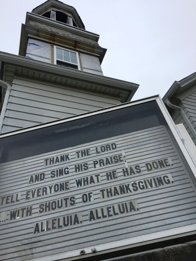 church sign Thanksgiving
