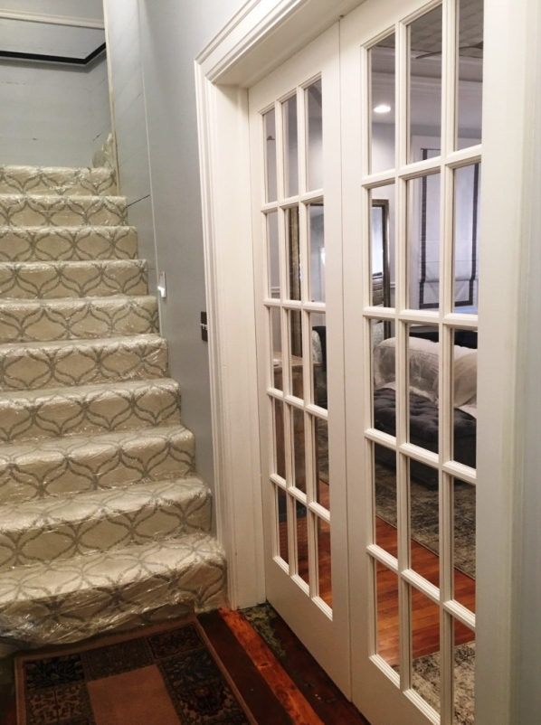 french doors with no window covering