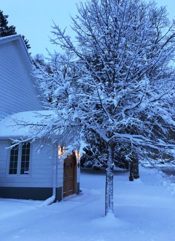 front door snow