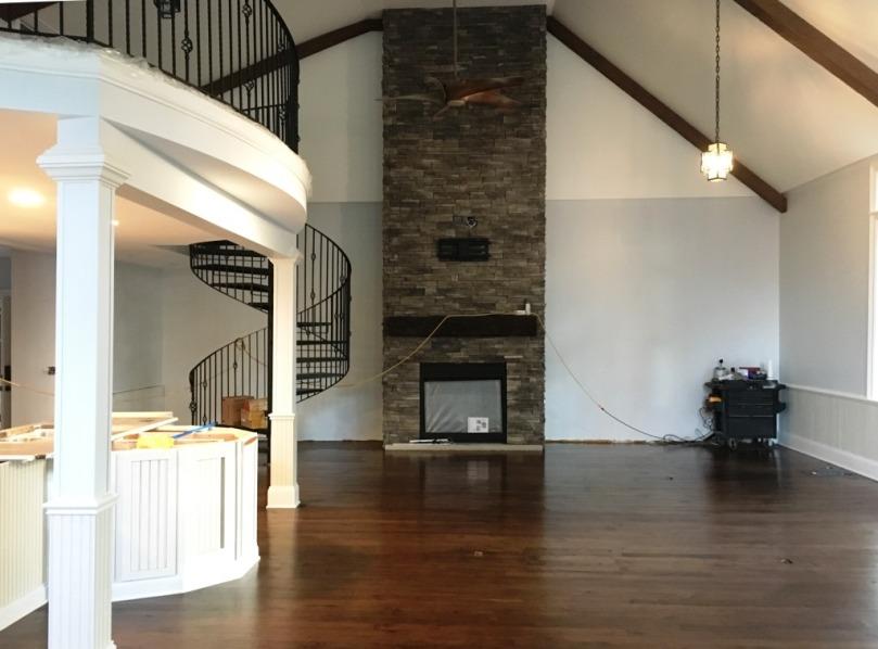 great room after floor refinishing