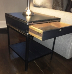 cash register side table