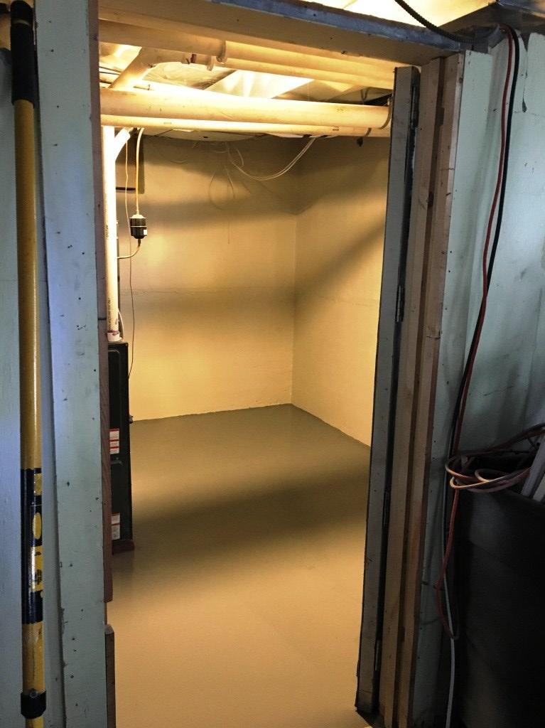 furnace room after
