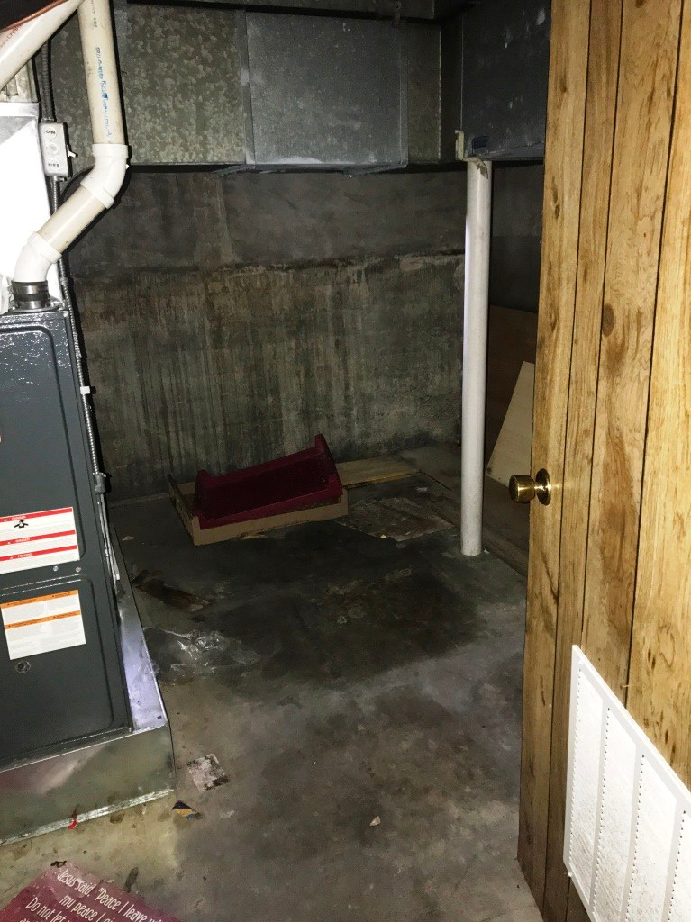 furnace room before