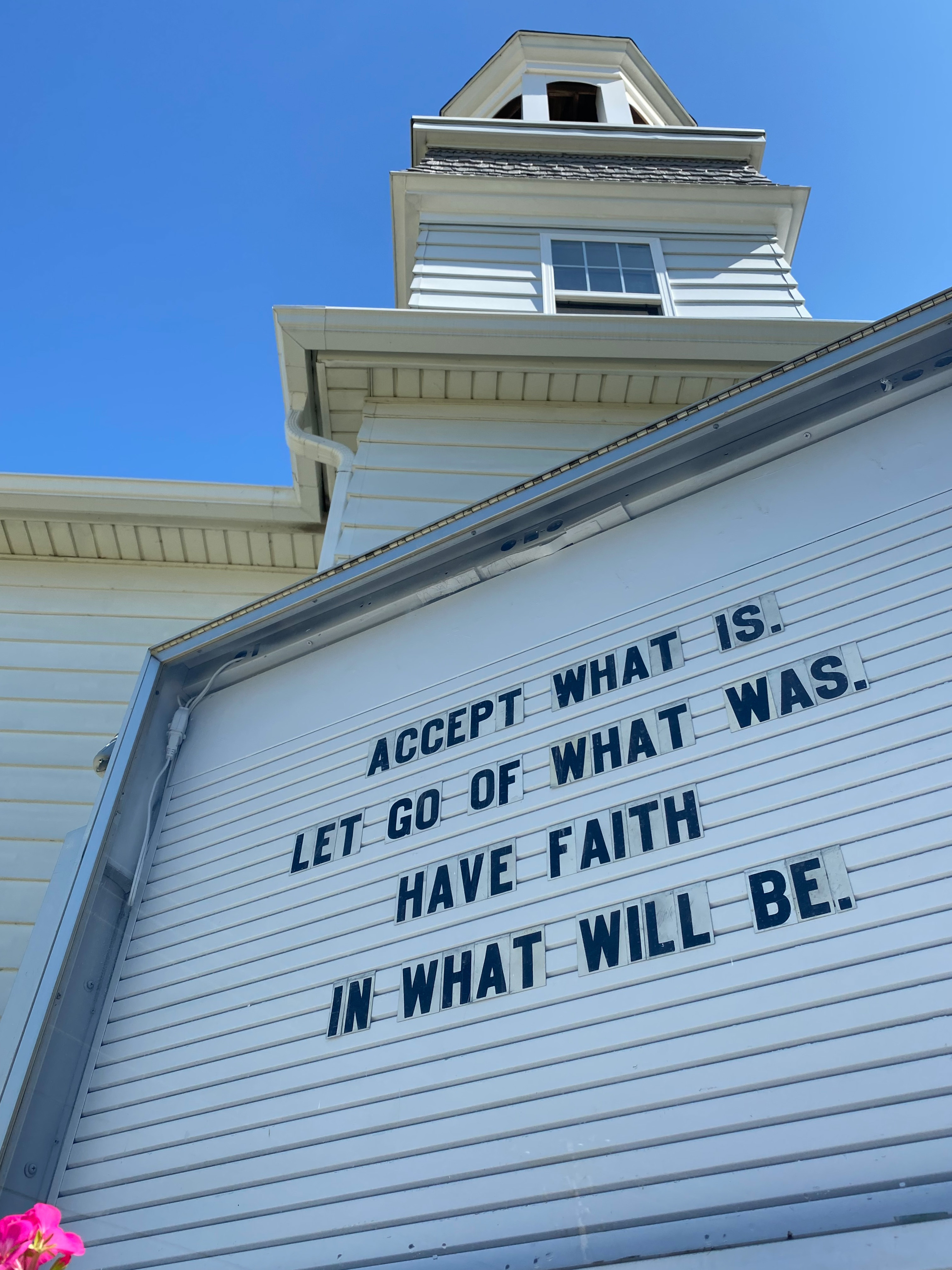 church sign acceptance and letting go