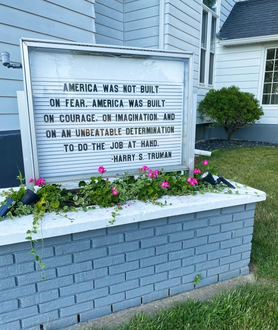 Fourth of July Church Sign 2020